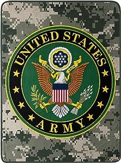 Northwest United States Army, Insignia Micro Raschel Throw Blanket, 46