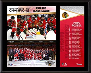 Chicago Blackhawks 2015 Stanley Cup Champions 12'' x 15'' Sublimated Plaque - NHL Team Plaques and Collages
