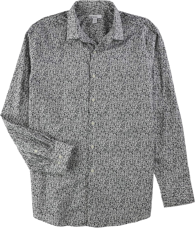 bar III Mens Max Dandy Floral Button Up Dress Shirt