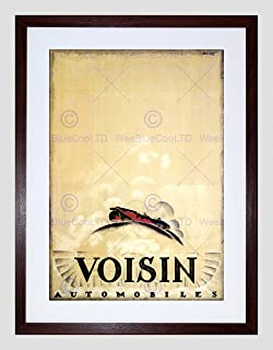 Advert Voisin Automobile Car Cloud France Retro Framed Wall Art Print 広告自動車雲フランスレトロ壁
