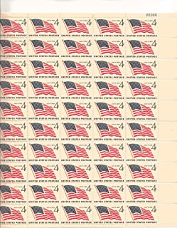 US Flag 1959 Full Sheet of 50 X 4 Cent Stamps Scot 1132
