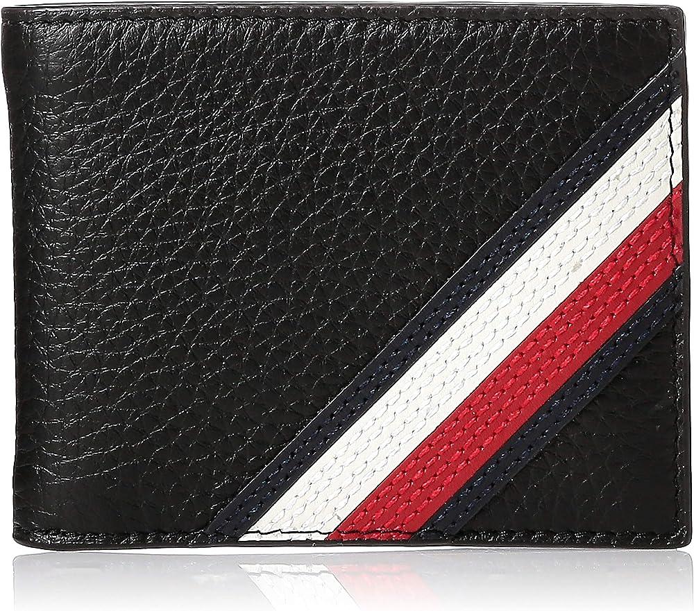 Tommy hilfiger, portafoglio, porta carte di credito per uomo, in pelle AM0AM05652