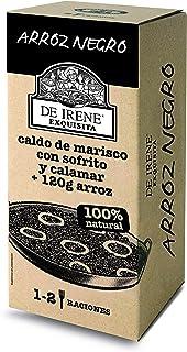 comprar comparacion De Irene Paellas y Fideuas, Plato envasado de Arroz Negro, Arroz y Marisco - 6 unidades, 12 Raciones, Total 3600 gr.