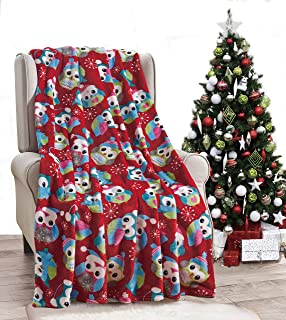 Ultra Plush Fleece Velvet Touch Holiday Winter Christmas Throw Blanket Gift NobleHouse - for Couch, Chair, Bed 50