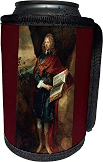 3dRose BLN Book and Reading Featured in Fine Art – Sir John Suckling, 1632 and 1641 by Sir Anthony Van Dyck – Can Cooler Bottle Wrap (cc_170985_1)