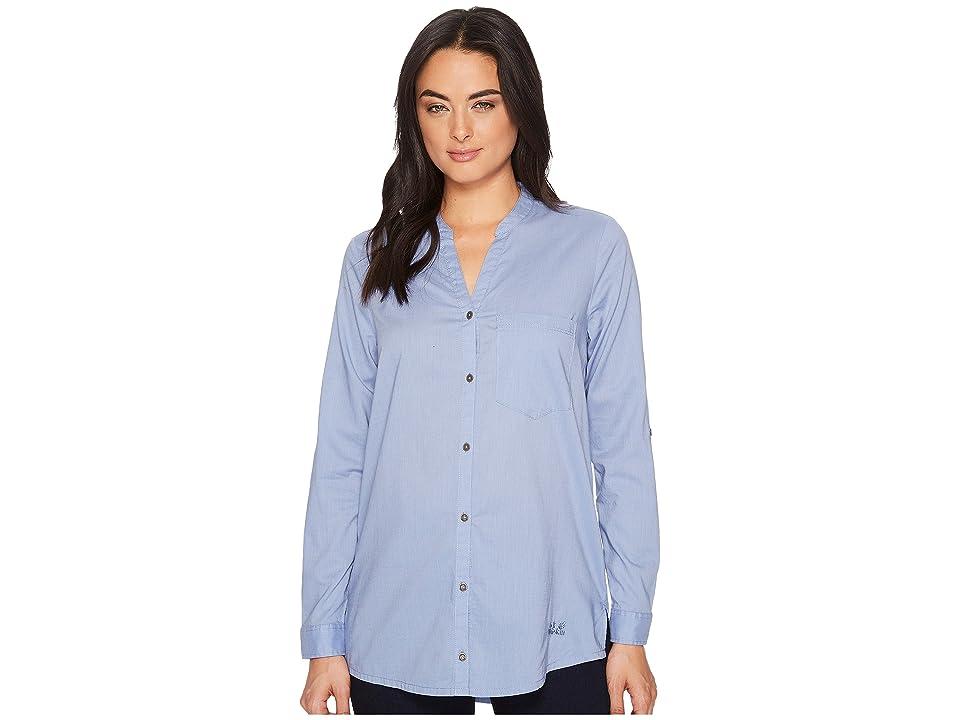 Jack Wolfskin Indian Springs Shirt (Dusk Blue Stripes) Women