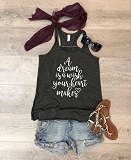 A Dream Is A Wish Your Heart Makes. Disney Tank Top. Disney Trip. Women's Tank. Bella Canvas Flowy Tank. Hand Screen Printed With Eco Ink. Women Clothing. Universal Trip Tank.