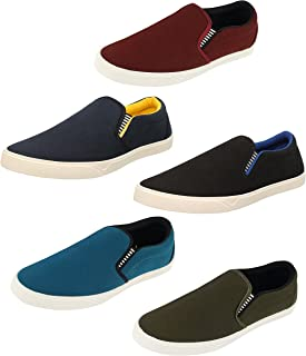 Chevit Men's Combo Pack of 5 Casual (Loafers & Moccassins)