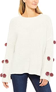 French Connection Women's Multi Pom Knit, Multicolored (