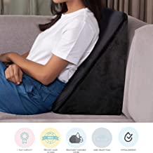 The White Willow Orthopaedic Bed Wedge Acid Reflux Medical Grade Foam Support Firm Pillow for Sleeping,Leg Elevator,Back & Neck Pain Relief, Pregnancy Maternity, Anti Snoring, Post Surgery- Black