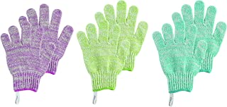 EcoTools Exfoliating Bath Gloves, 6 Count (Colors May Vary)