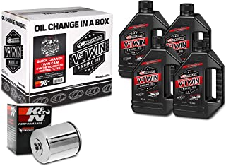 Maxima Racing Oils 90-119014C Quick Twin Cam Synthetic 20W-50 Chrome Filter Engine Oil Change Kit, 128. Fluid_Ounces