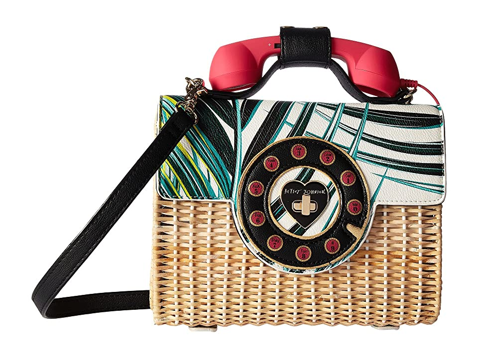 Betsey Johnson Wicker Phone Bag (Multi) Handbags