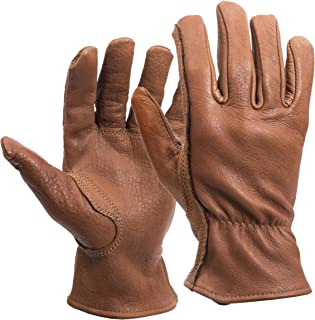 American Made Buffalo Leather Work Gloves , 650, Size: Large