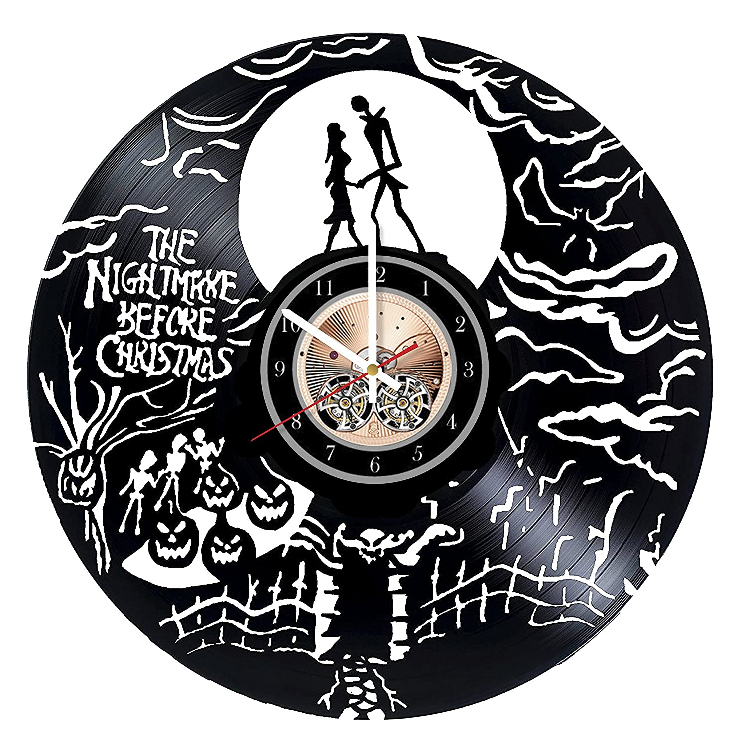 The Nightmare Before Christmas Vinyl Wall Record Jack and Max Genuine Free Shipping 57% OFF Clock