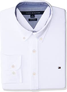 Men's Custom Fit New England Solid Oxford Shirt