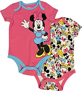 Minnie Mouse Bodysuit 2-Pack Creeper Set for Baby Girls