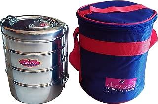Samudratanaya Exports Stainless Steel 4 Tier Tiffin Lunch/Storage Box