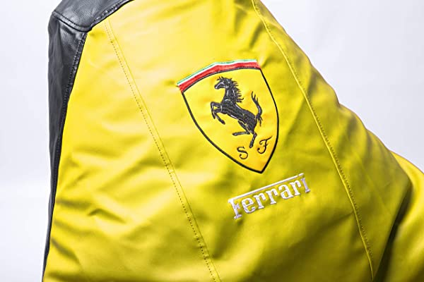 Ferrari Supercar Comfortable Kids Adult Game Outdoor Indoor Lounge Chair Beanbag Cover Without Beans Yellow