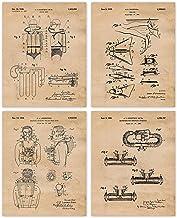 Scuba Diving Gift for Scuba Diving Wall Art Scuba Art Scuba Decor Scuba Poster Scuba Diving Patent Scuba Diving Blueprint WB246