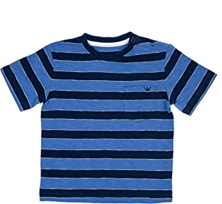 Boy's and Baby Boy's Short Sleeves Striped Printed T-Shirts Cotton Casual Tees