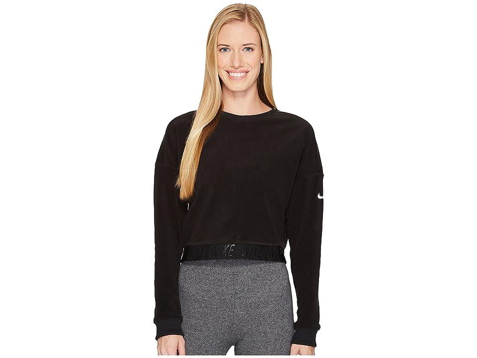 Nike Cropped Training Top (Black/Heather/White) Women