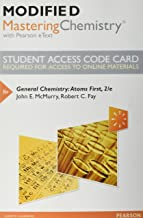Modified Mastering Chemistry with Pearson eText -- Standalone Access Card -- for General Chemistry: Atoms First (2nd Edition)