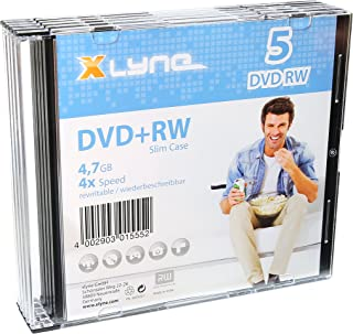 Xlyne DVD-RW Discs 4,7 GB, 4X Speed, 5er Slim Case