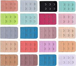 Multicolore 2 Ganci e 3 Ganci Estensore Bra Reggipetto Cinturino Gancio BOZEVON 40 Pezzi Estensione di Reggiseno per Donne