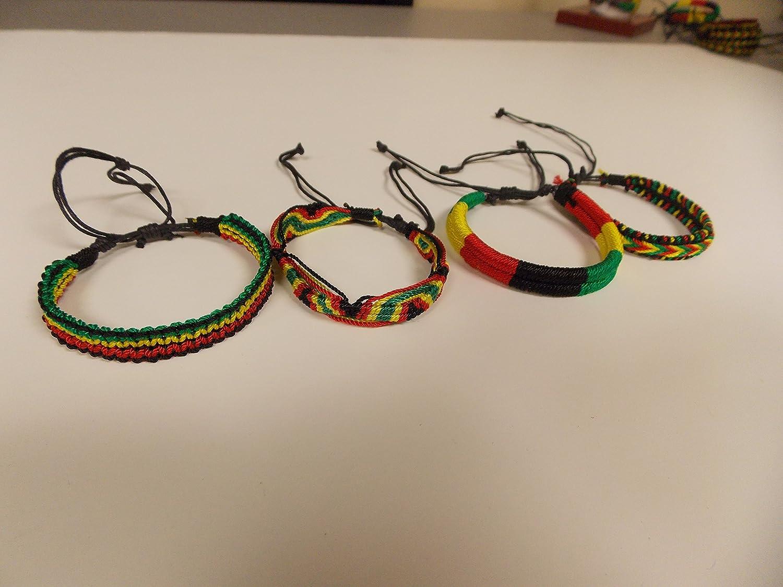 Outlet ☆ Free Shipping Rasta Bracelets Assorted Branded goods