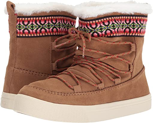 Toffee Waterproof Suede/Tribal Webbing