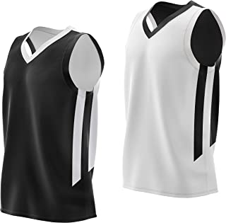 Reversible Men's Mesh Athletic Basketball Jersey Single for Team Scrimmage