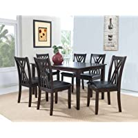 7-Piece Powell 358-730A Master Table & Chairs (Espresso)