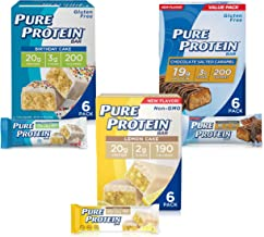 Pure Protein Bars High Protein Nutritious Snacks to Support Energy Low Sugar Gluten Free Dessert Variety Pack 1 76 oz Pack of 18 Estimated Price : £ 54,95