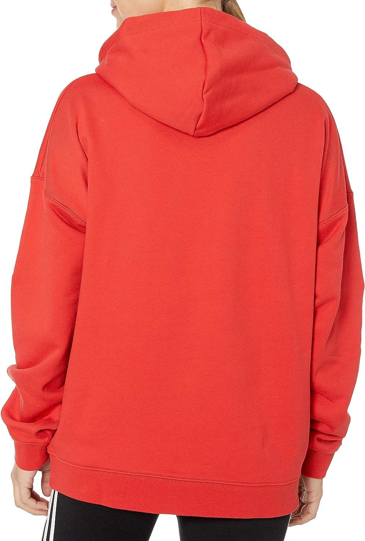 adidas Originals Sweat à capuche pour femme avec grand logo Lush Red/White