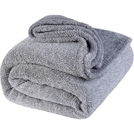 lattefine 毛布 シングル ブランケット柔軟軽量発熱 吸湿/静電気防止/洗える 140x200cm (グレー)