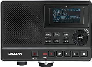 Sangean DAR101 Digitale voicerecorder - inclusief telefoon en muziekfunctie - LCD scherm - Zwart