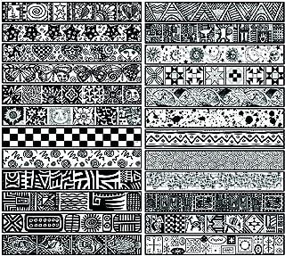 Sax Mini Assorted Pattern Imprinting Mat Set, 1 x 6-3/4 Inches, Set of 24 - 1288659