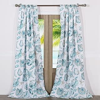 Barefoot Bungalow Cruz Coastal Curtain Panel Pair