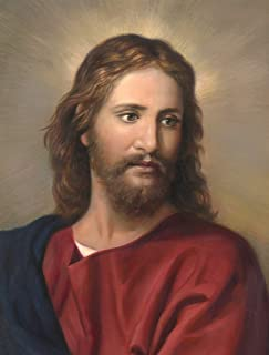 Big A Solutions Jesus Canvas Print Mounted on Wood. Jesus Wall Art Ready to Hang in Living Room, Bedroom, Office. Jesus Poster 11X14. Inspired on Heinrich Hoffmann's Painting.
