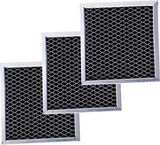 Ultra Durable 8206230A Microwave Charcoal Filter Replacement part by Blue Stars – Exact Fit For Whirlpool & Maytag Microwaves – Replaces 8206230 AP4299744 PS1871363 - PACK OF 3