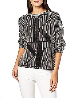 Calvin Klein Women's MIRRORED MONOGRAM CK CN Pullover