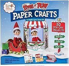 Elfo en el estante elfos exploradores en juego manualidades de papel
