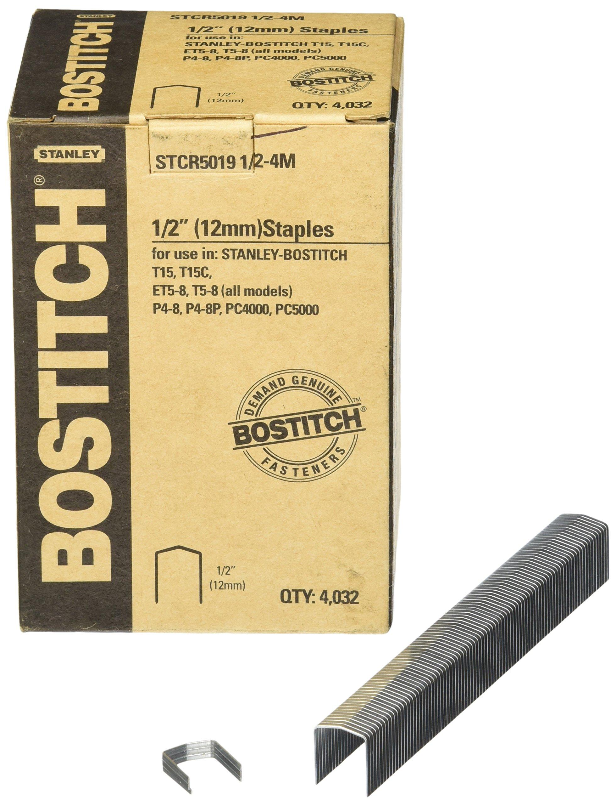 Bostitch STCR50191/2-4M 1/2-Inch by 7/16-Inch Heavy-Duty PowerCrown Staple (4,032 per Box)