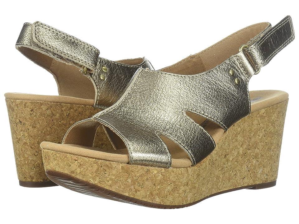Clarks Annadel Bari (Gold Metallic Leather) Women