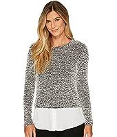 Calvin Klein - Long Sleeve Nubby Knit Twofer