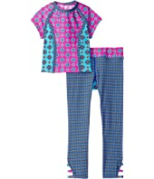 Hobie Kids - Mix It Up Cropped Rashguard and Swim Pants (Big Kids)