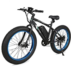 ECOTRIC Fat Tire Electric Bike Beach Snow Bicycle 26