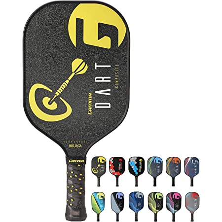 Gamma Poly Core Pickleball Paddle: Pickle Ball Paddles for Indoor & Outdoor Play - Textured Graphite or Composite Surface, Honeycomb Cushion Grip - USAPA Approved Racquet for Adults & Kids