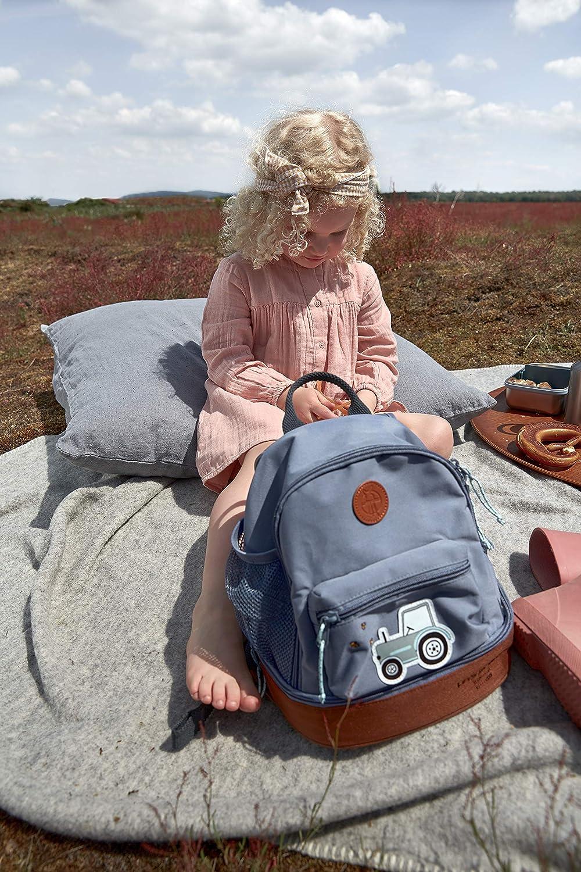 LÄSSIG Kinderrucksack mit Brustgurt Kindergartentasche Kindergartenrucksack 27 cm, 4,5 Liter oben, 1,5 Liter unten, 3 Jahre/Mini Backpack Adventure Bus, Petrol Blau